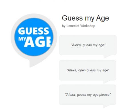 Guess my age – Alexa skill